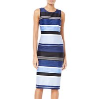 Adrianna Papell Stripe Printed Dress, Blue/Multi