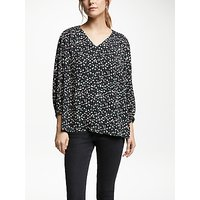 Collection WEEKEND by John Lewis Winter Floral V-Neck Top, Black