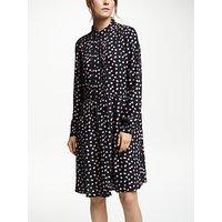 Collection Weekend By John Lewis Maisie Textured Spot Shirt Dress, Black