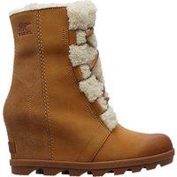 Sorel Joan Of Arctic Wedge Heel Ankle Snow Boots, Brown Suede