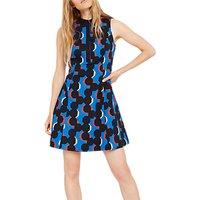 Damsel in a Dress Tayler Geometric Print Dress, Cobalt/Multi