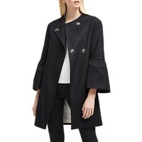 French Connection Bell Sleeve Coat, Black