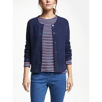 Collection WEEKEND by John Lewis Crew Neck Cardigan, Navy