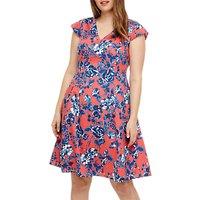 Studio 8 Printed Dress, Coral/Multi