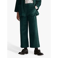 Toast Cord Wide Leg Trousers, Vintage Teal