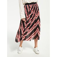 Just Female Coline Pleated Skirt, Red