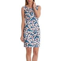 Betty Barclay Globe Print Dress, Blue/Rosé