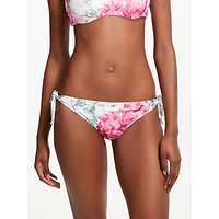 Ted Baker Fardet Babylon Print Tie Side Bikini Bottoms, White/Pink