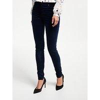 Ag The Farrah Velvet High Rise Skinny Jeans, Blue Night