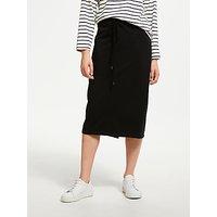 Great Plains Lightweight Midi Skirt, Black