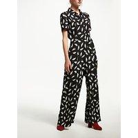 Finery Alida Wide Leg Jumpsuit, Black/Multi