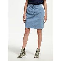 Finery Selma Cord Pencil Skirt, Moody Sky Blue
