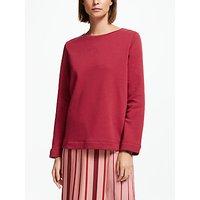 Finery Saffron Sweatshirt, Garnet Rose