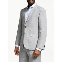 John Lewis and Partners Linen Regular Fit Suit Jacket, Silver Grey