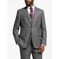 John Lewis and Partners Wool Check Regular Fit Suit Jacket, Grey
