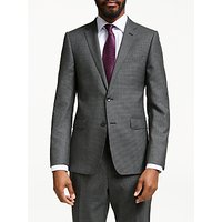 John Lewis and Partners Wool Puppytooth Slim Fit Suit Jacket, Grey