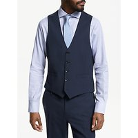 John Lewis and Partners Tailored Waistcoat, Navy