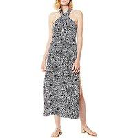Karen Millen Leo Halterneck Maxi Dress, Multi