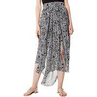 Karen Millen Print Drape Skirt, Multi