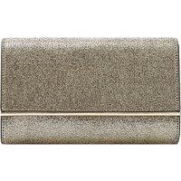 Dune Elysse Bar Detail Fold Over Clutch Bag, Gold