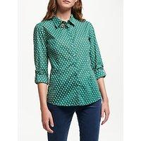 Seasalt Larissa Shirt, Polka Dot Dark Forage