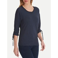 Betty Barclay Loose Fit Pull Tie Sleeve Cotton Top, Dark Sky