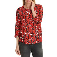 Betty Barclay Toucan Print Blouse, Red/black