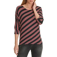 Betty Barclay Striped Jersey Top, Red/Black