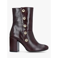 Carvela Soldier Studded Ankle Boots, Red Leather