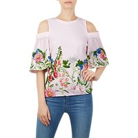 Ted Baker Beyaa Florence Cold Shoulder Top, Pink