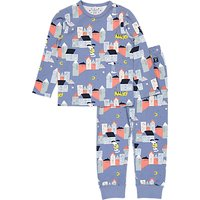Polarn O. Pyret Baby's Town Pyjamas, Blue