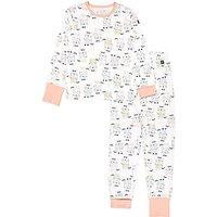 Polarn O. Pyret Baby's Cat Pyjamas, Pink