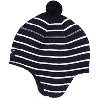 Polarn O. Pyret Children's Stripe Hat, Blue