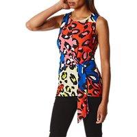 Karen Millen Leopard Tie Waist Top, Multi
