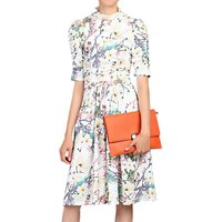 Jolie Moi Print Midi Dress, White Floral