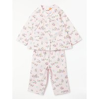John Lewis & Partners Vintage Floral Pyjama Top and Bottoms Set, Pink