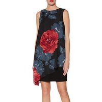 Gina Bacconi Tilda Asymmetric Floral Dress, Multi