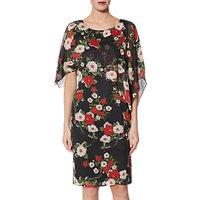 Gina Bacconi Niyla Dress, Black/Red