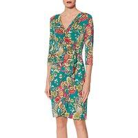 Gina Bacconi Paisley Jersey Dress, Jade