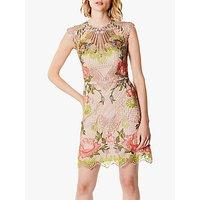 Karen Millen Embroidered Lace Dress, Multi