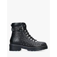 Carvela Shiver Embellished Ankle Boots, Black Leather