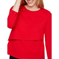 Damsel in a Dress Marla Eyelet Jersey Top, Red
