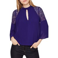 Damsel in a Dress Pleat Blouse, Purple