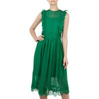 Ted Baker Porrla Frill Lace Midi Dress, Green