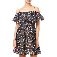 Adrianna Papell Floral Embroidery Party Dress, Black/Multi