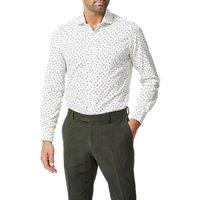 Simon Carter Wash Print Slim Fit Shirt, White