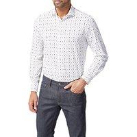 Simon Carter Arrow Print Slim Fit Shirt, White