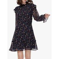 Brora Floral Silk Dress, Raven/ruby