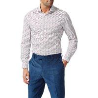 Simon Carter Bubble Print Slim Fit Shirt, White