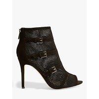 Karen Millen Mesh Cage Stiletto Shoe Boots, Black